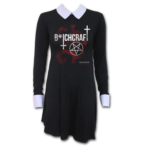 Spiral - COVEN - BITCHCRAFT AHS Peter Pan Collar Baby Doll LS Dress