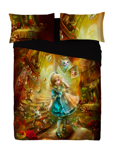 Wild Star - ALICE IN WONDERLAND - Duvet Covers Set UK Kingsize