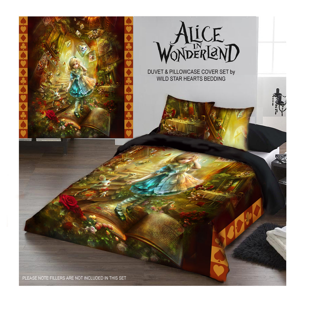 ALICE IN WONDERLAND - Duvet Covers Set UK Kingsize