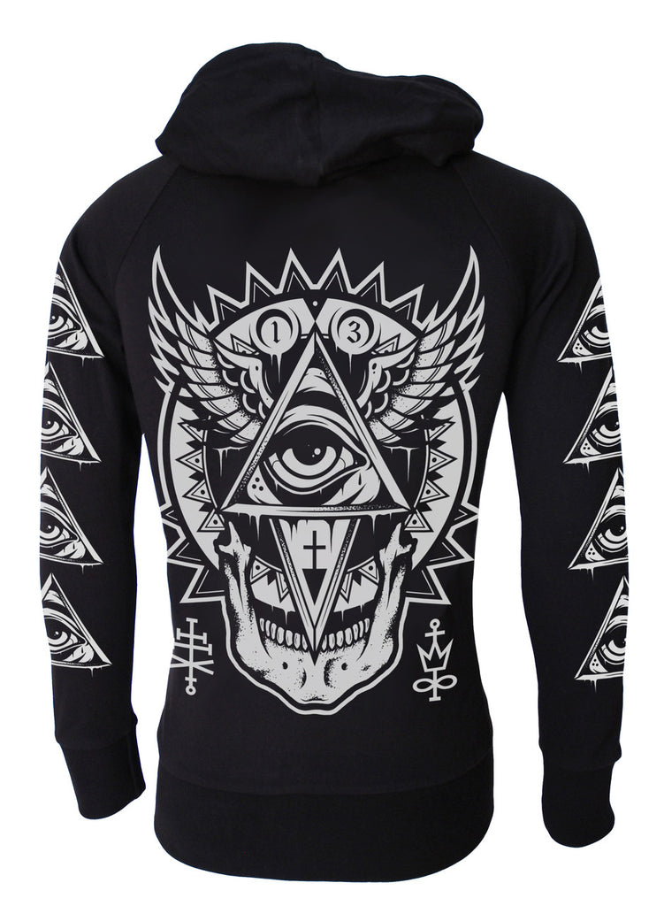 Darkside - ALL SEEING EYE - Mens Lightweight Hoodie - Black