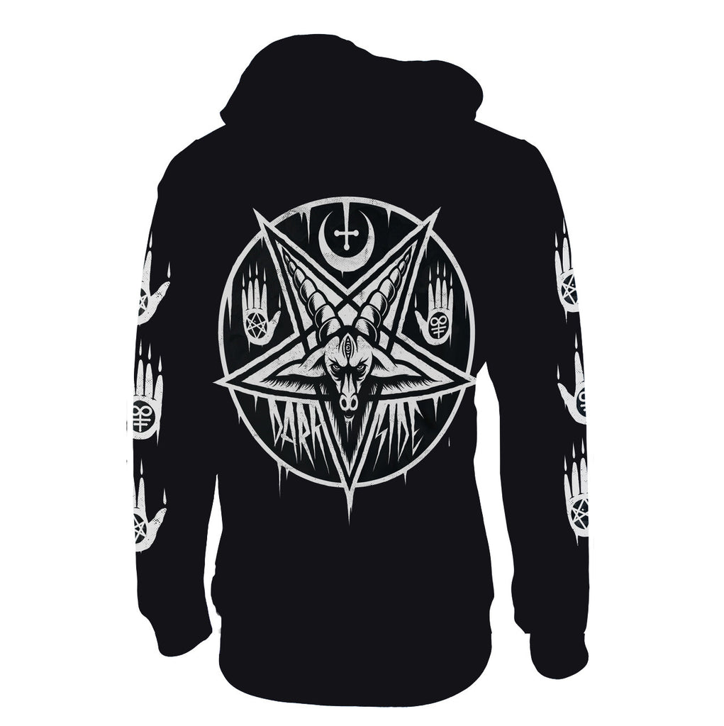Darkside - PENTAGRAM BAPHOMET - Lightweight Hoodie - Black