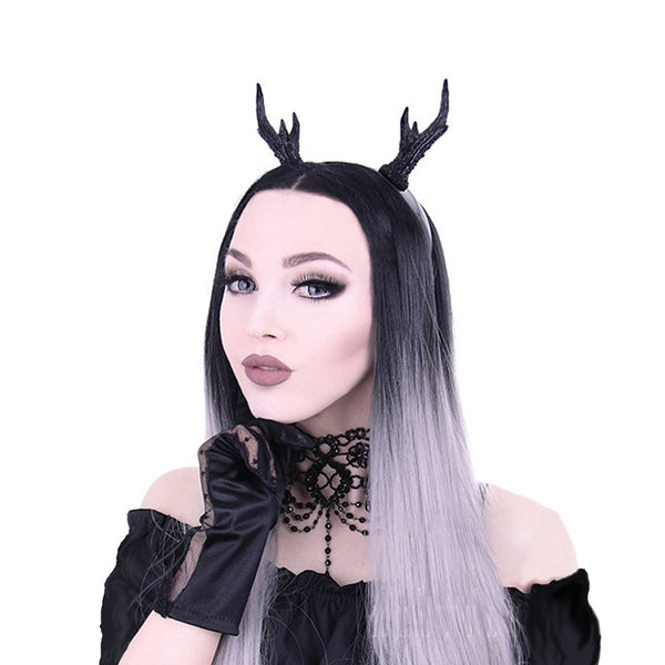 Restyle - ANTLER HORNS HEADBAND - Black