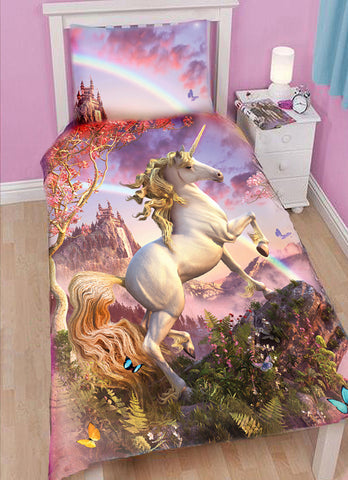 AWESOME UNICORN - Duvet Set for Single Bed