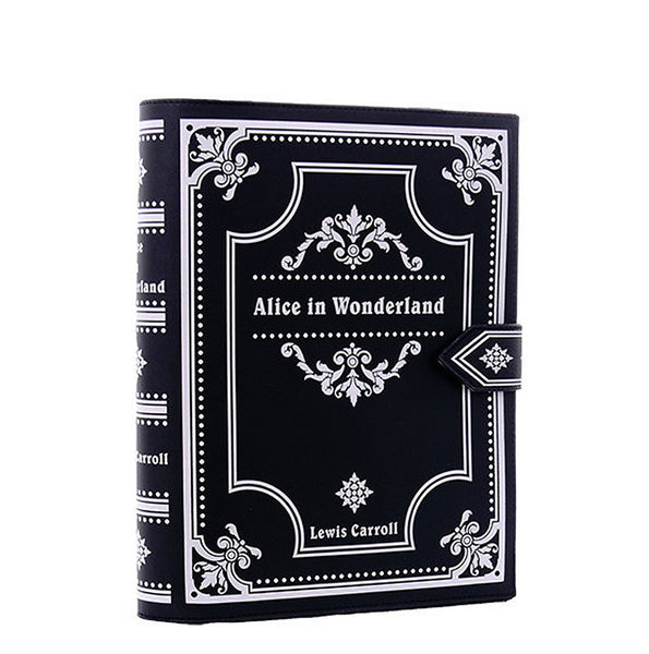Restyle - ALICE IN WONDERLAND - Black Book Bag