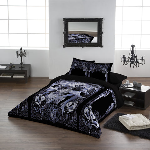 BLACK HEART BALLET-Duvet & Pillowcase Covers Set UK King/US Queen