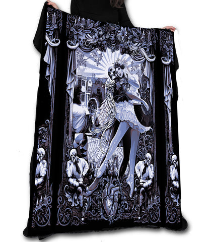 Wild Star - BLACK HEART BALLET Fleece Blanket / Throw / Tapestry