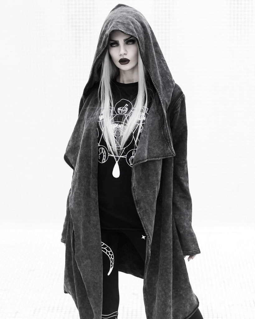 Rogue Wolf - DUSK - Cardigan with Oversized Hood