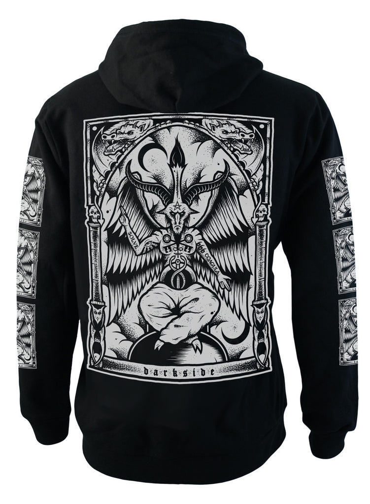 Darkside - BAPHOMET - Mens Hooded Zip-Up Sweater - Black