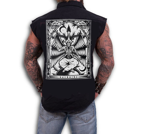 Dark Art Cult - BAPHOMET  - Sleeveless Workers Shirt - Black