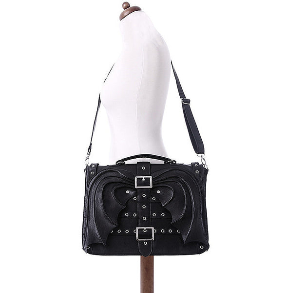 Restyle - BAT WINGS BAG - Gothic Black Satchel