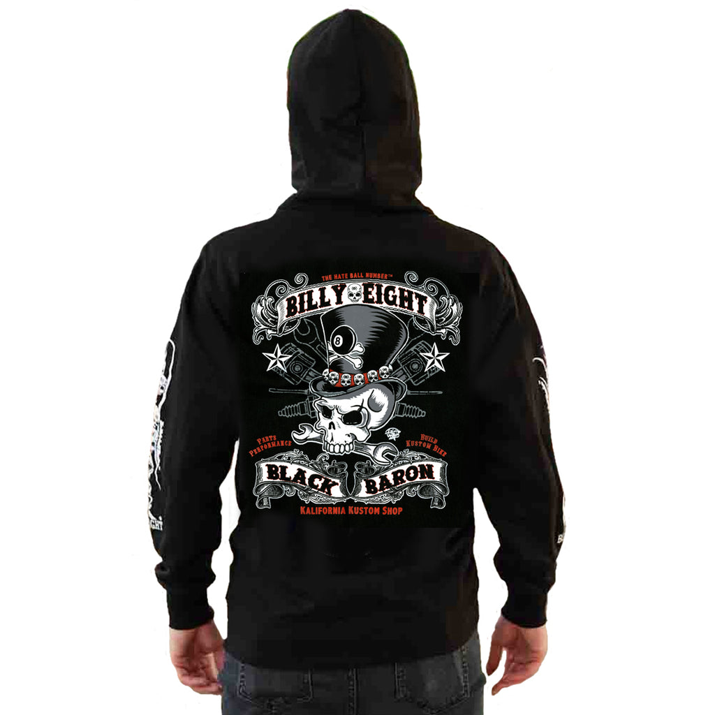 Billy Eight - BLACK BARON  - Hoodie