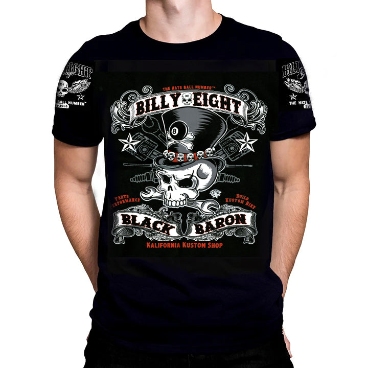 Billy Eight -BLACK BARON - T-Shirt