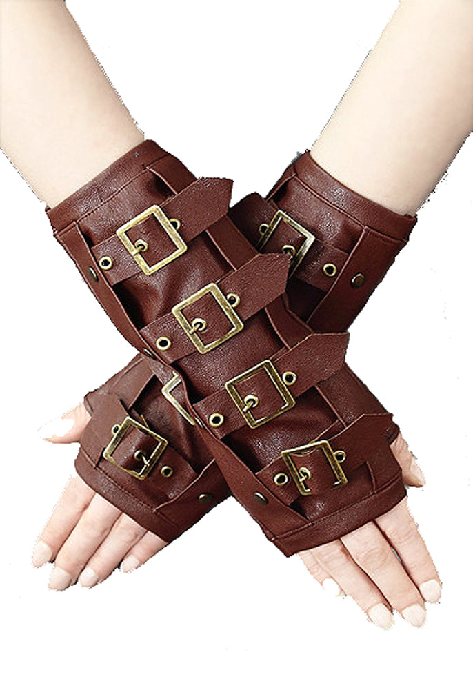 Image of armwarmers on model