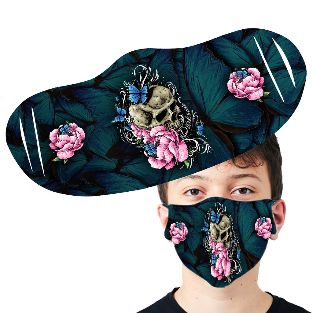 Darkside - BUTTERFLY SKULL - Fashion Face Mask