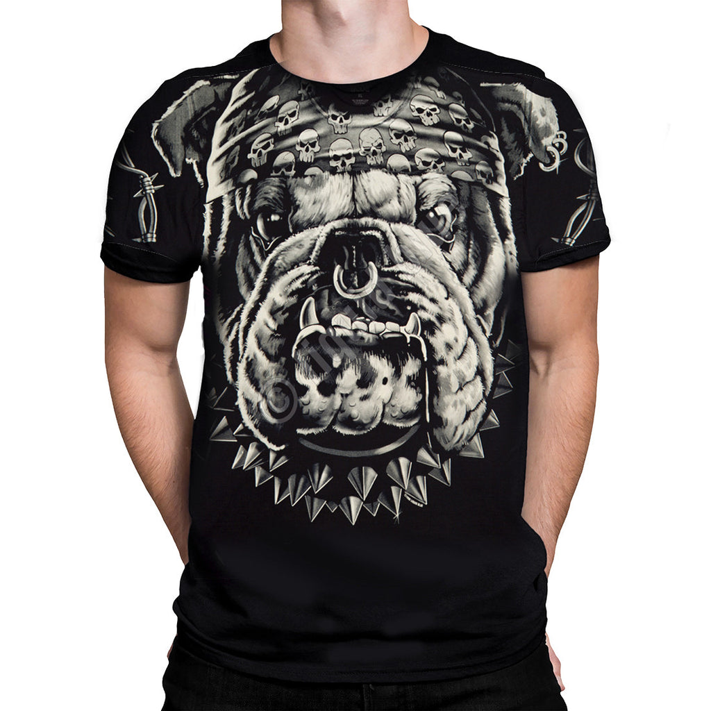 Liquid Blue - CAT'S SUCK BULLDOG - Short Sleeve T-Shirt  PLUS SIZES