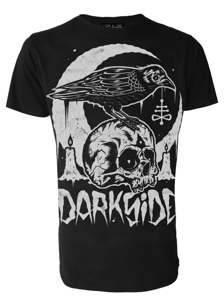 Darkside - SKULL CROW - Mens T-Shirt - Black