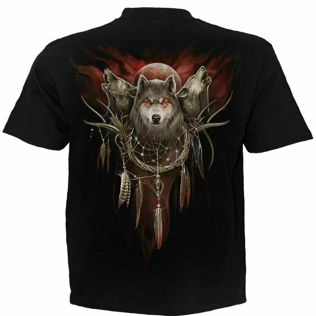 Spiral - CRY OF THE WOLF - Men's Black Short Sleeve T-Shirt