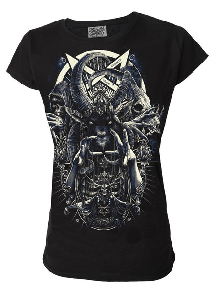 Darkside - CULT OF BLACK ARTS - Women's Capsleeve T-Shirt - Black