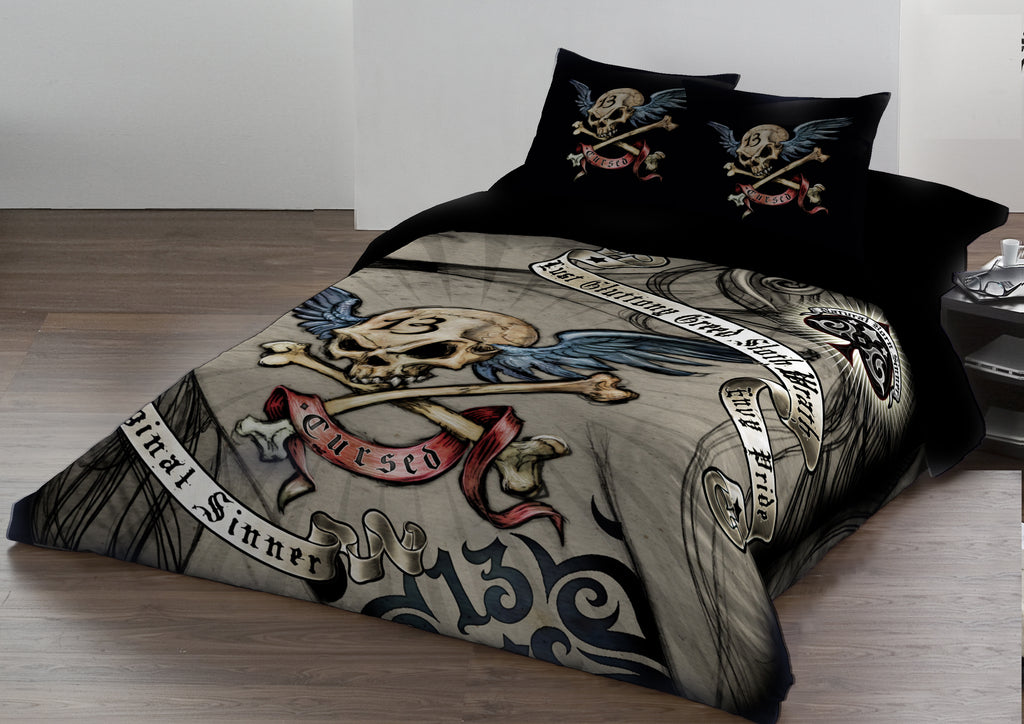 Image of Cursed Duvet Cover Set on a Bed