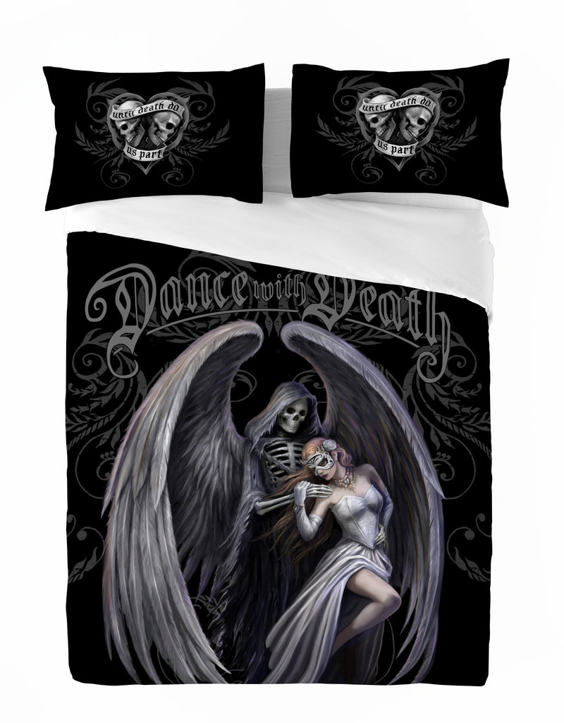 DANCE WITH DEATH -Duvet & Pillow Cover Set UK King/US Queen