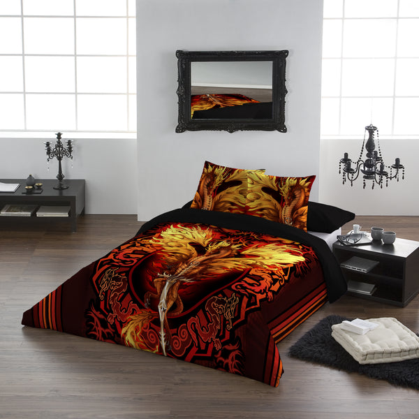 Dragon Flame Blade - Duvet Cover Set UK Kingsize