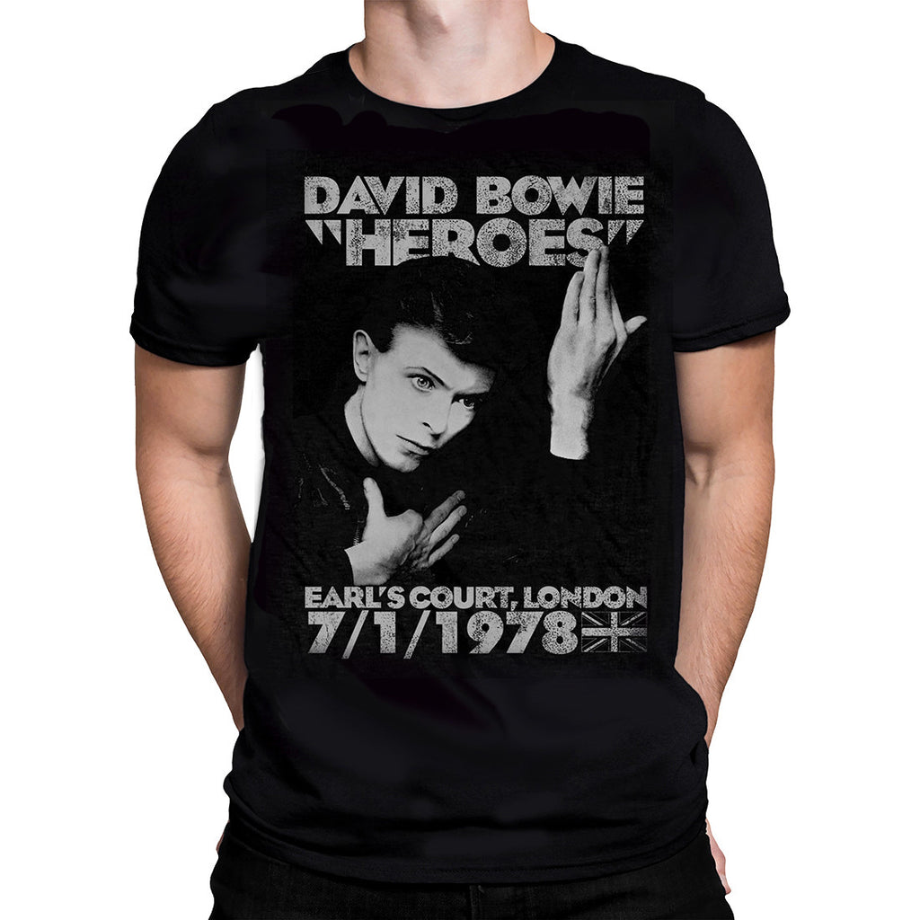 Rock Off - DAVID BOWIE HEROES - Mens T-Shirt - Black