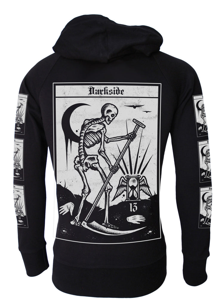 Darkside - DEATH TAROT - Lightweight Hoodie - Black