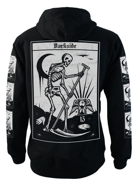 Darkside - DEATH TAROT - Mens Fleece Hoodie - Black