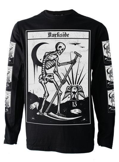 Darkside - DEATH TAROT - Mens Long Sleeve Top -Black