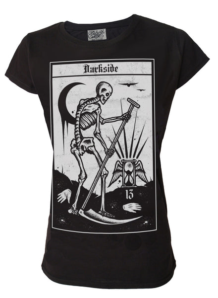 Darkside - DEATH TAROT - Women's Capsleeve T-Shirt - Black