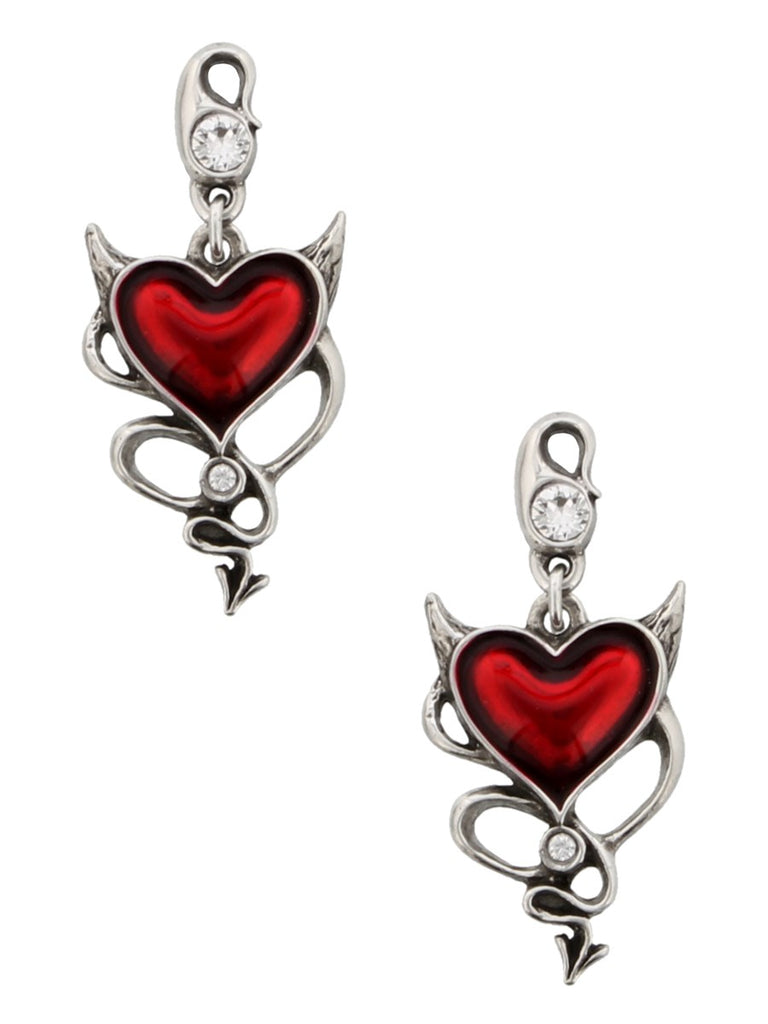 Image of Devil Heart Earrings