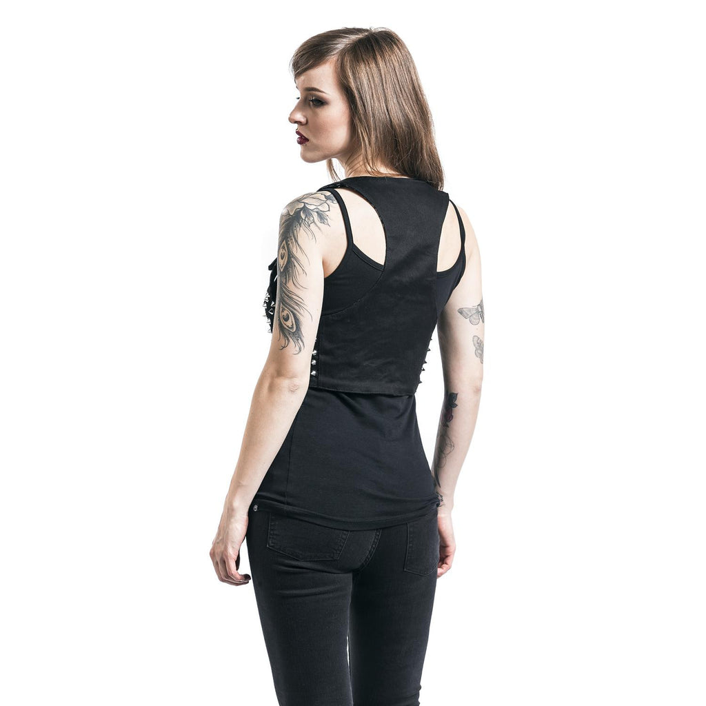Heartless- STUDDED DEVINA TOP - Black gothic accessory