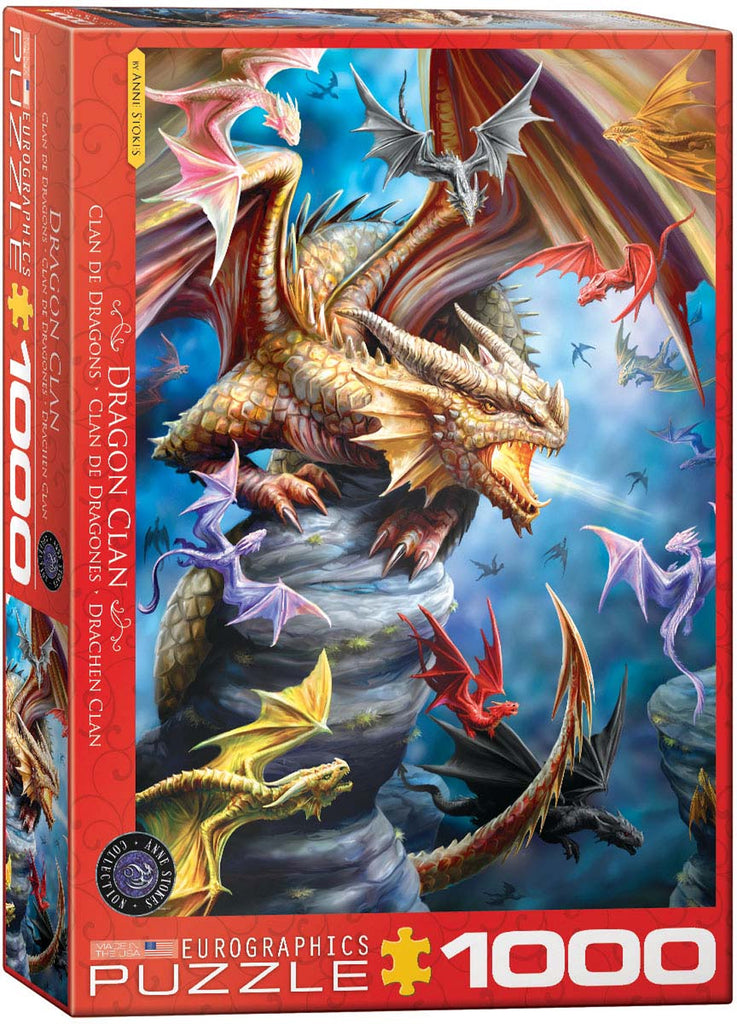 DRAGON CLAN - 1000 piece Jigsaw Puzzle by Anne Stokes