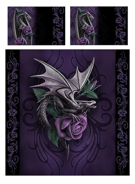 Wild Star - DRAGON BEAUTY- Duvet & Pillowcases Covers Set UK Kingsize