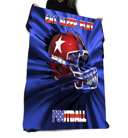 Wild Star Hearts - EAT SLEEP PLAY FOOTBALL - Fleece / Throw / Tapestry