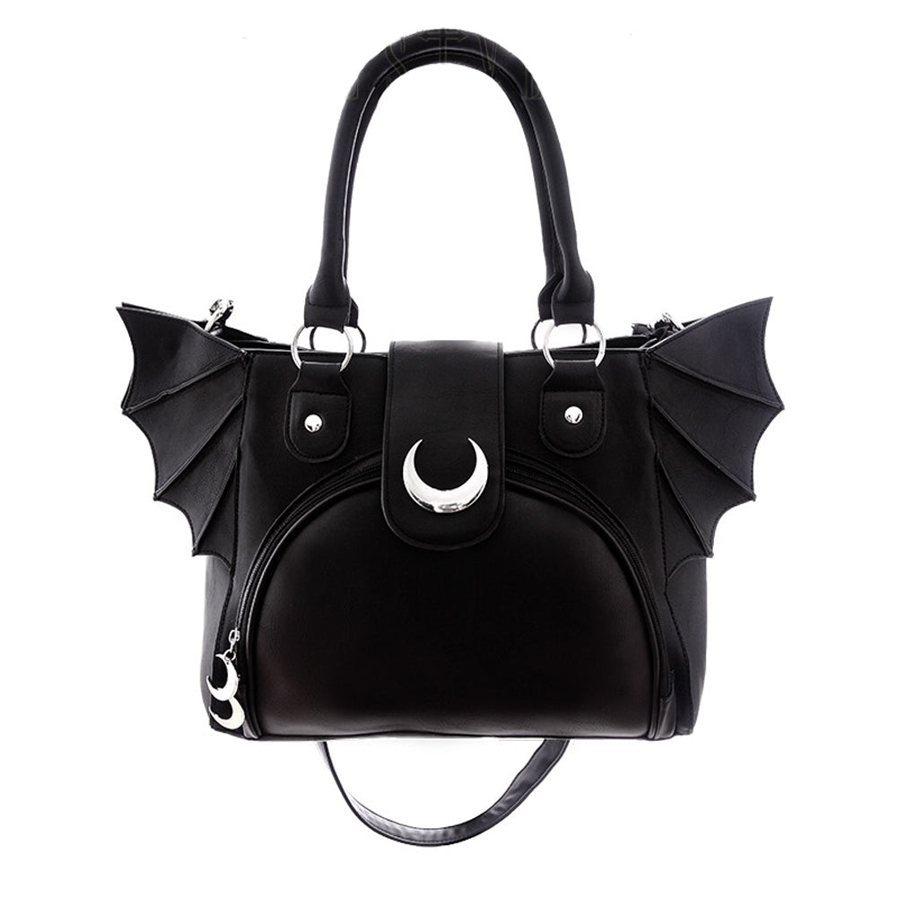 Restyle - ELEGANT GOTH PURSE - Moon Bat Bag