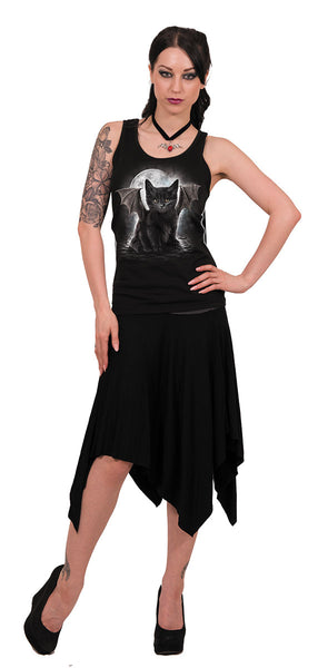 Spiral - BAT CAT - Womens Razor Back Vest Top