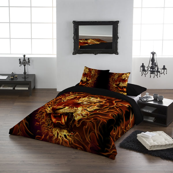 Fire of the Tiger- Duvet Cover Set UK Kingsize