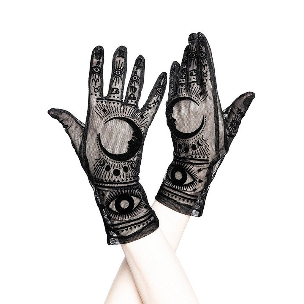 Front image of gloves on model