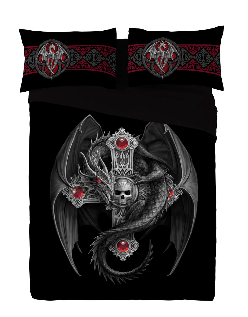 Wild Star - GOTHIC DRAGON - Duvet & Pillows Covers Set UK size