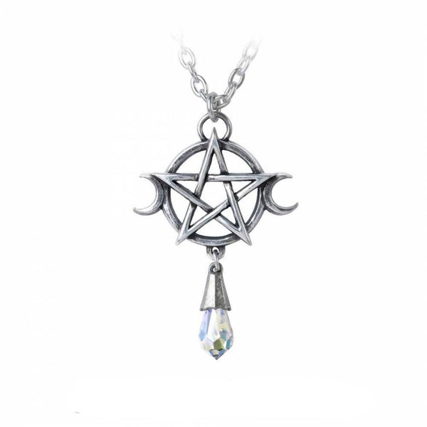 Alchemy - GODDESS - Crystal Wiccan Pendant