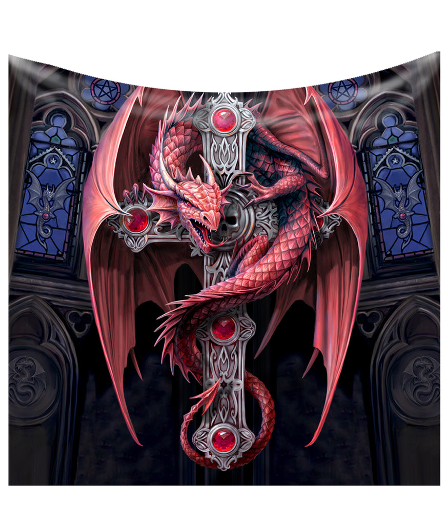 Anne Stokes - GOTHIC PROTECTOR - Fleece Blanket, Tapestry, Throw.