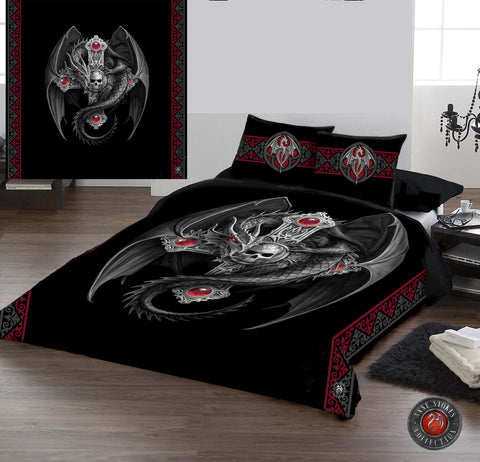 GOTHIC DRAGON-Duvet & Pillow Cases Cover Set Superking/King