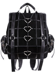 Restyle - HEAVY HEART BAG - Gothic Black Satchel