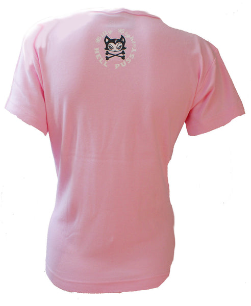 Billy Eight - HELL PUSSY - Women's Cap Sleeve T-Shirt - Pink
