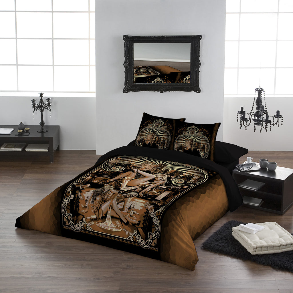 Image of Duvet Cover shown on a Bed