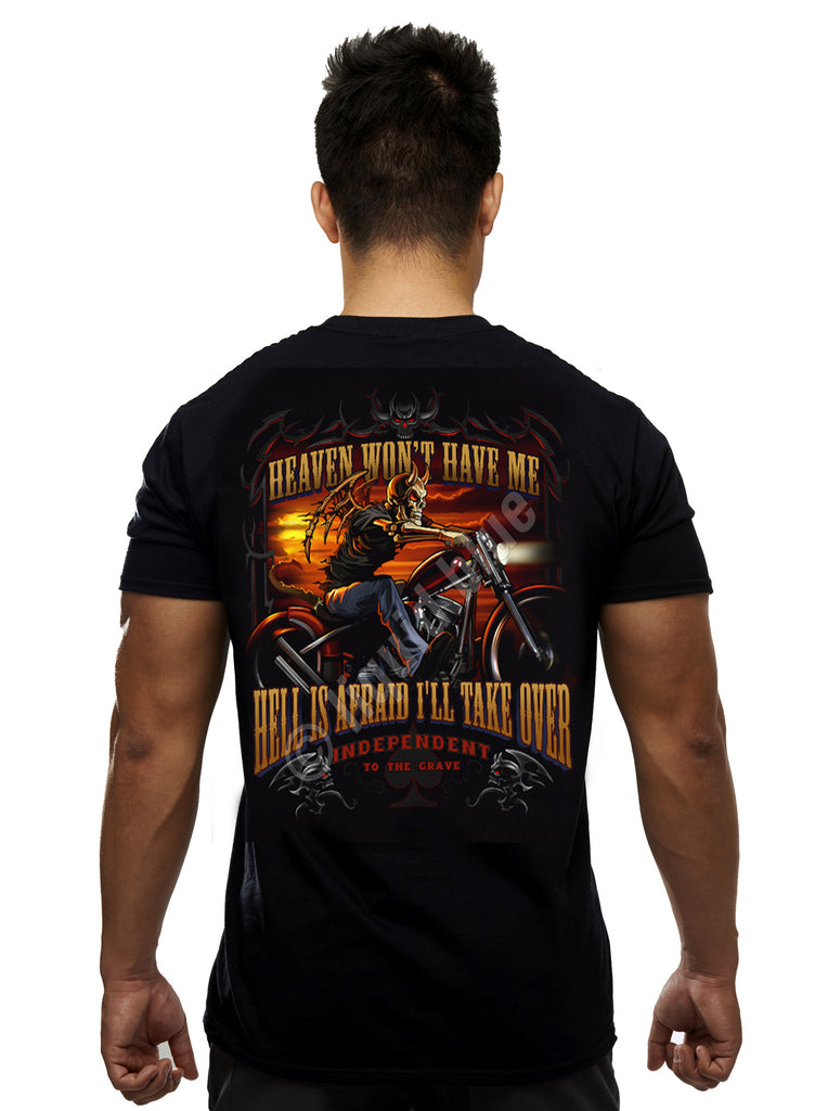 Liquid Blue - HEAVEN AND HELL - Short Sleeve T-Shirt .