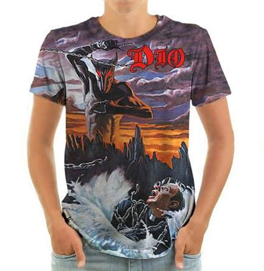 Born2Rock - HOLY DIVER - Dio Mens T-Shirt