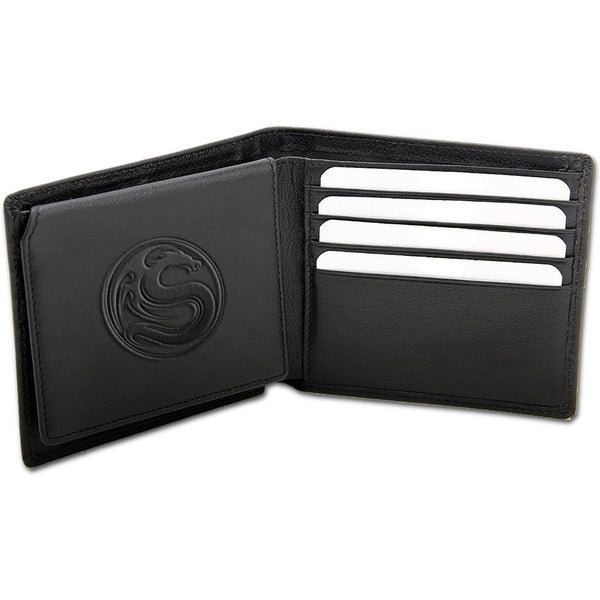 Spiral - WOLF CHI - Bi-Fold Simulated Soft Leather Wallet -Black