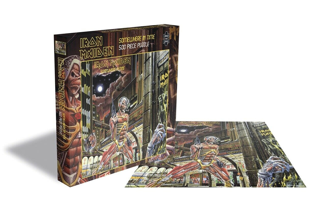 RockSaws - IRON MAIDEN - SOMEWHERE IN TIME - 500 piece Jigsaw Puzzle